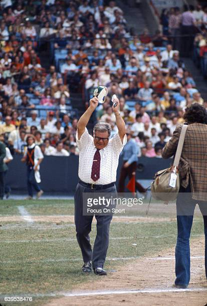 Head coach Weeb Ewbank of the New York Jets reacts after a call during an AFL football game circa 1969 Ewbank coached the Jets from 196373
