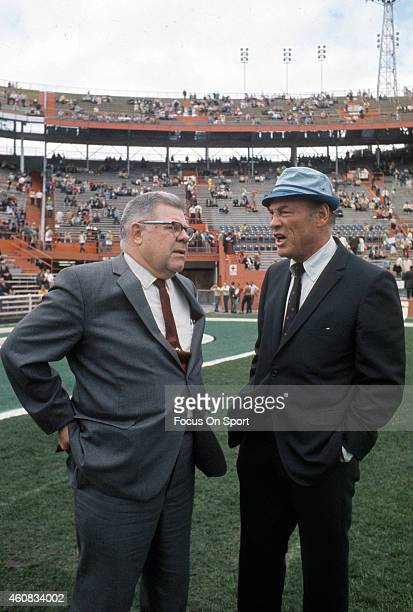 Head Coach Weeb Ewbank of the New York Jets seems prior to playing the Baltimore Colts in Super Bowl III at the Orange Bowl on January 12 1969 in...