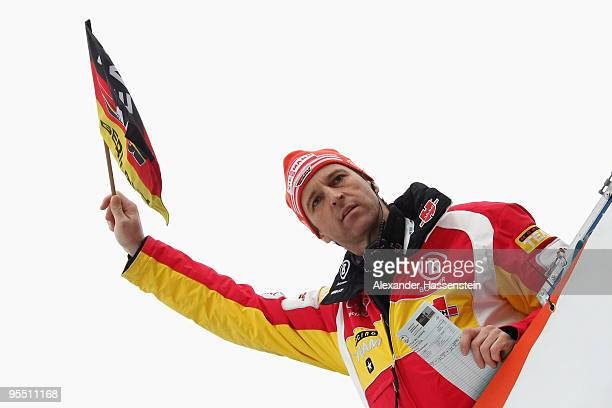 Head coach Werner Schuster of Germany reacts during the training round of the FIS Ski Jumping World Cup event of the 58th Four Hills ski jumping...