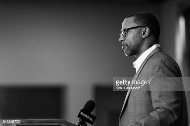Head Coach Willie Taggart of the Florida State Seminoles talks with the media during his National Signing Day Press Conference at the Dunlap...