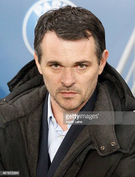 Head coach Willy Sagnol of Bordeaux Girondins during the French Cup between Paris SaintGermain FC Bordeaux Girondins at Parc Des Princes on January...