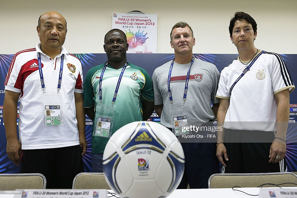 Group D Teams Joint Press Conference - FIFA U-20 Women's World Cup Japan 2012 : News Photo