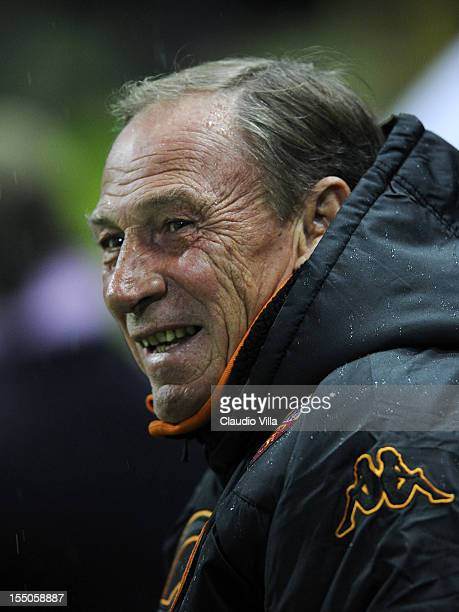 Head coach Zdenek Zeman of AS Roma during the Serie A match between Parma FC and AS Roma at Stadio Ennio Tardini on October 31 2012 in Parma Italy