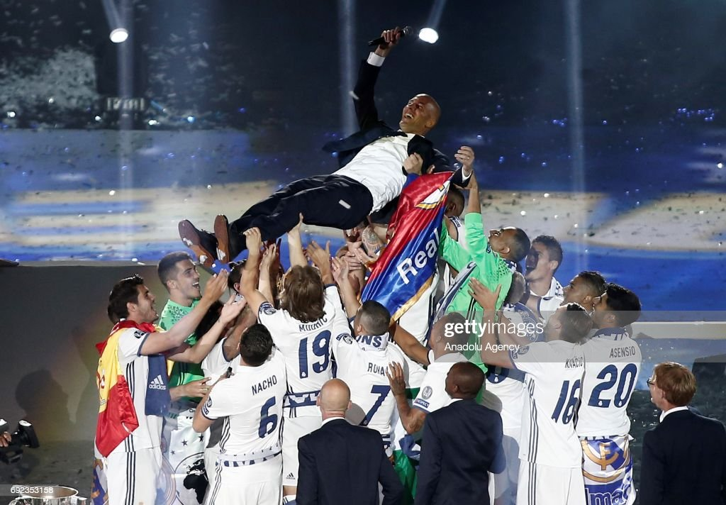 Real Madrid celebrates UEFA Champions League victory : Foto di attualità