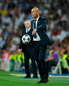 madrid spain head coach zinedine zidane