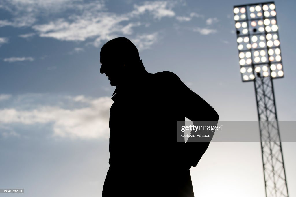 Head coach Zinedine Zidane of Real Madrid during the La Liga match, between Celta Vigo and Real Madrid at Estadio Balaidos on May 17, 2017 in Vigo, Spain.