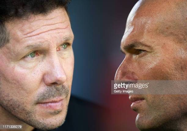 COMPOSITE OF IMAGES Image numbers 852372342956612460 GRADIENT ADDED In this composite image a comparison has been made between Manager Diego Simeone...