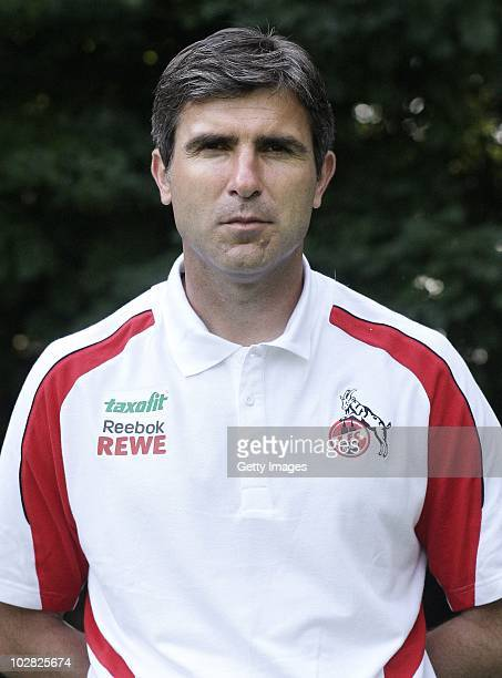 Head coach Zvonimir Soldo poses during the 1 FC Koeln team presentation at RheinEnergy stadium on July 12 2010 in Cologne Germany