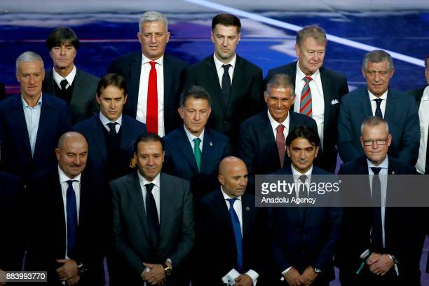 Head coaches Didier Deschamps of France Joachim Low of Germany Vladimir Petkovic of Switzerland Mladen Krstaljic of Serbia Age Hareide of Denmark and...