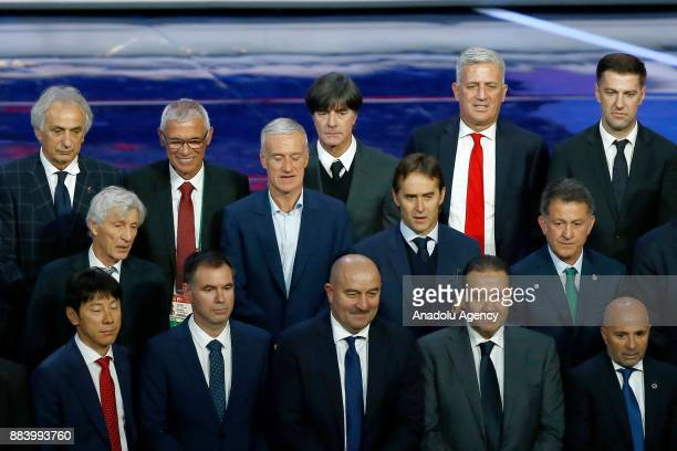 Head coaches Vahid Halilhodzic of Japan Jose Pekerman of Colombia Hector Cuper of Egypt Didier Deschamps of France Joachim Low of Germany Vladimir...