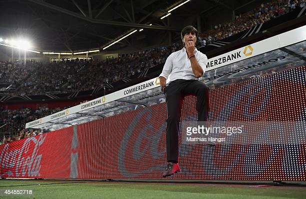 Head coch Joachim Loew of Germany seen priot to the international friendly match between Germany and Argentina at EspritArena on September 3 2014 in...