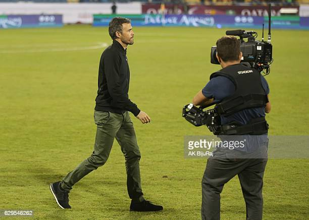 Head coch of Barcelona Luis Enrique Martinez during the Qatar Airways Cup match between FC Barcelona and Al-Ahli Saudi FC on December 13, 2016 in...