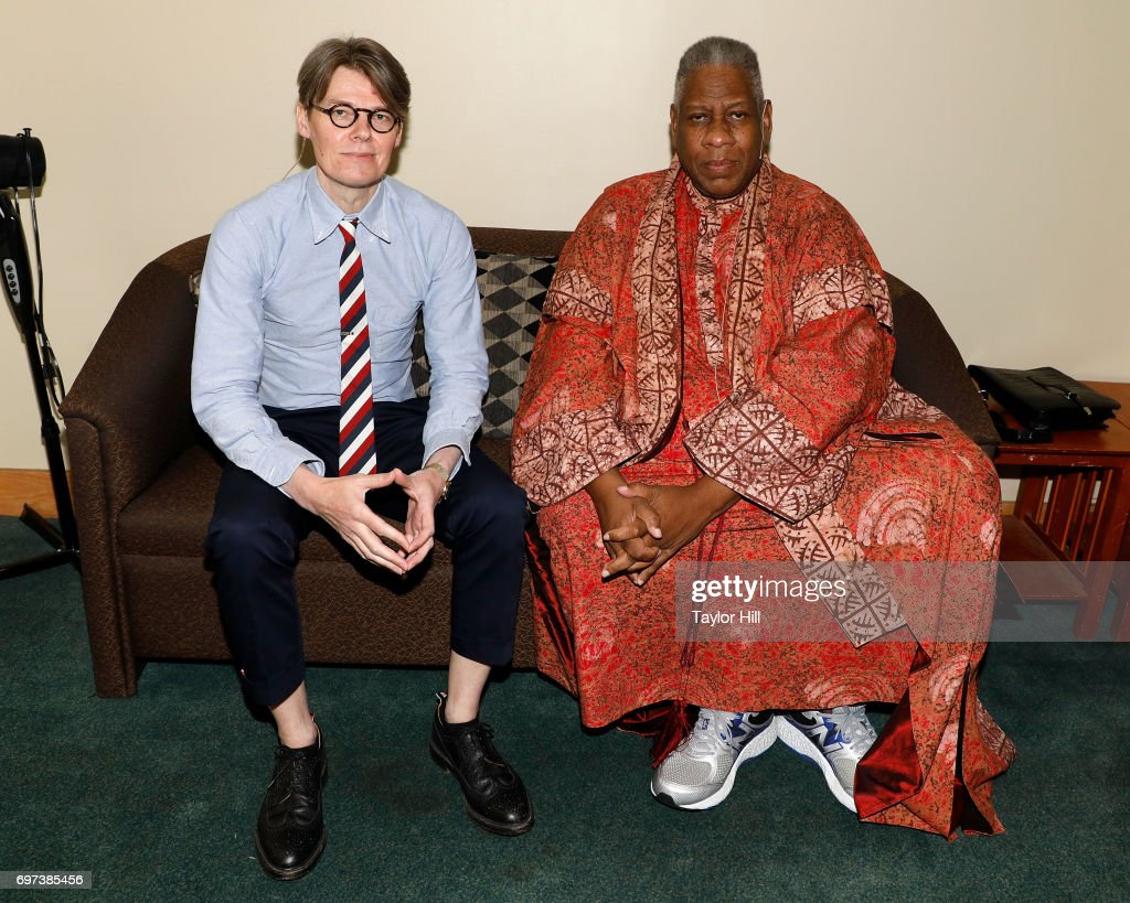Sunday At The Met: Andrew Bolton And Andre Leon Talley : News Photo