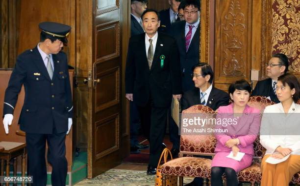 Head director of school operator 'Moritomo Gakuen' Yasunori Kagoike attends an upper house budget committee at the diet building on March 23 2017 in...