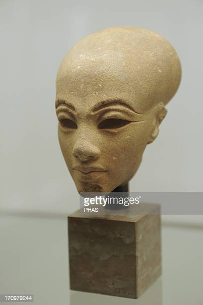 Head from a statuette of a princess Quartzite Probably from elAmarna Egypt Amarna Period c 13651347 BC Ny Carlsberg Glyptotek Copenhagen Denmark
