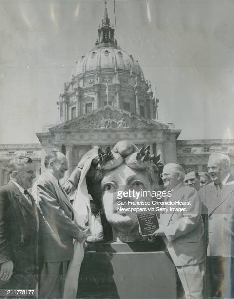Head from the Goddess of Progress statue that stood atop old San Francisco City Hall It survived the 1906 earthquake and fire only to fall off a...