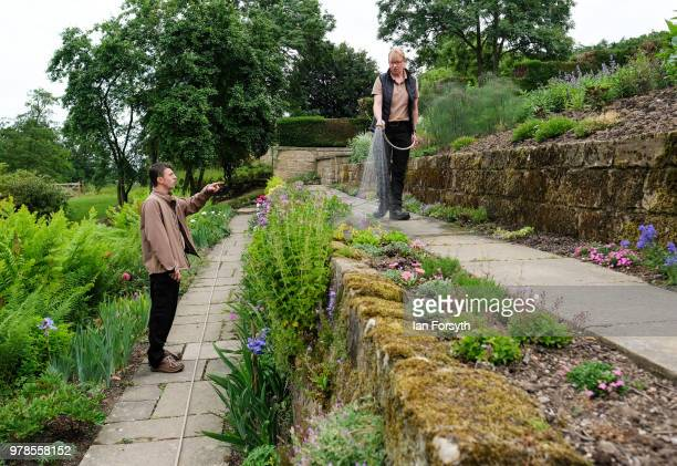 Head Gardener James Taylor speaks with gardner Karen Greenwood as they work at Mount Grace Priory ahead of a media event to launch a new arts and...