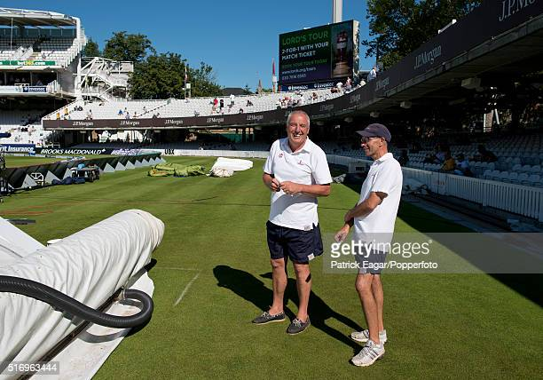 Head groundsman Mick Hunt during the 3rd Test between England and South Africa at Lord's Cricket Ground London 18th August 2012 South Africa won the...