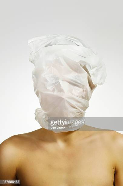 head in a plastic bag