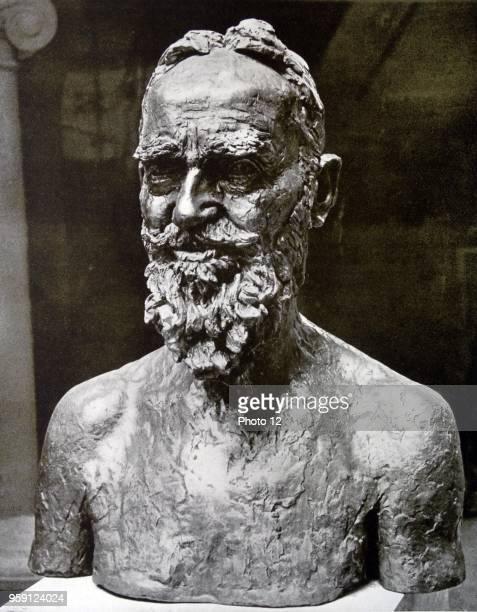 Head in Bronze by Jacob Epstein British sculptor who helped pioneer modern sculpture Dated 1925