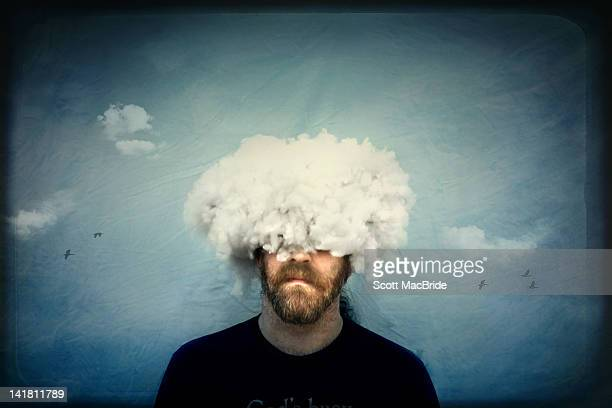 head in clouds - scott macbride stock pictures, royalty-free photos & images
