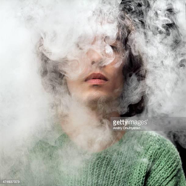 head in smoke