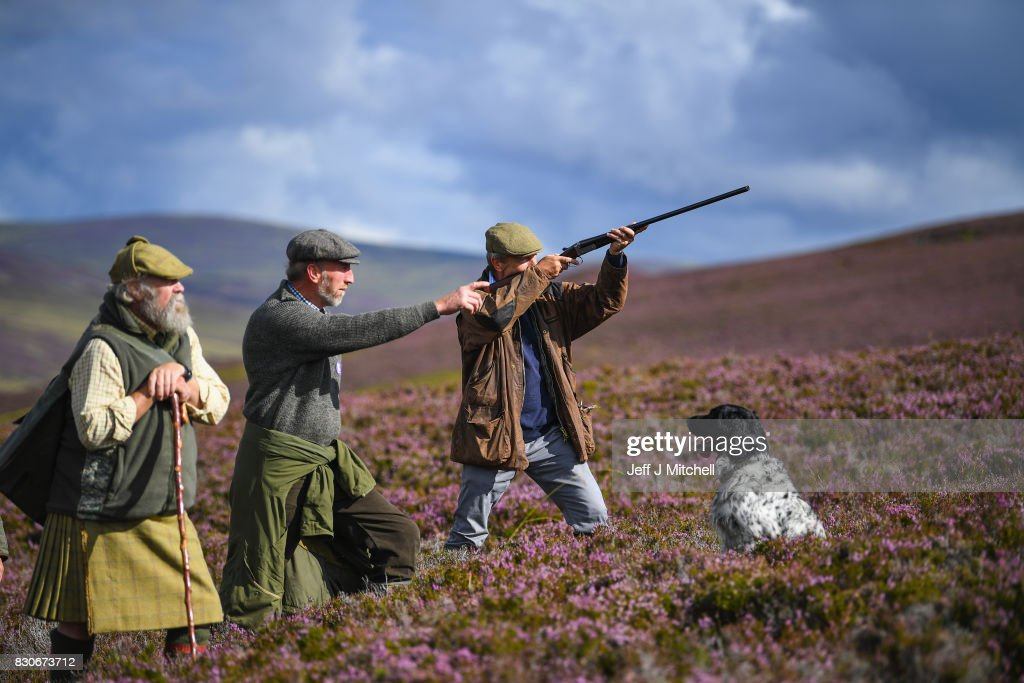 Head keeper Graeme MacDonald leads a shooting party at the beginning of a new shooting season on a grouse moor at the Alvie Estate on August 12, 2017 in Aviemore, Scotland. The Glorious 12th signals the start of the grouse shooting season, it has been an integral part of the countryside calendar for decades with enthusiasts travelling from all over the world to shots on Scotlands finest estates.
