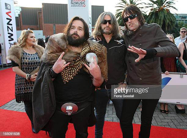 Head Like a Hole arrives for the 2012 Vodafone New Zealand Music Awards at Vector Arena on November 1 2012 in Auckland New Zealand