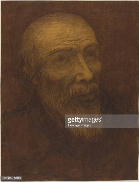 Head of a Bald Man with a Beard, 1906. Artist Alphonse Legros.