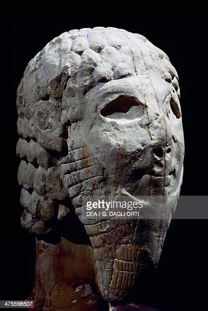 Head of a bearded Assyrian man of influence from Amman Jordan Amman Archaeological Museum