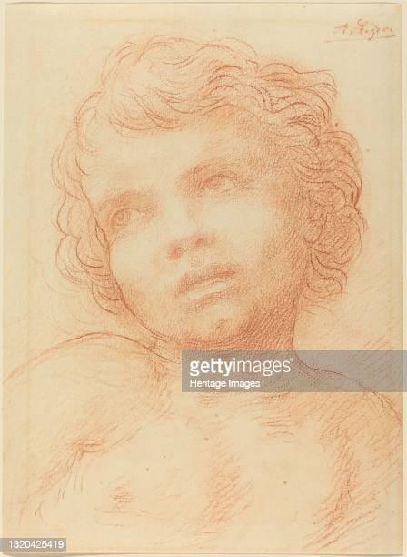 Head of a Child. Artist Alphonse Legros.