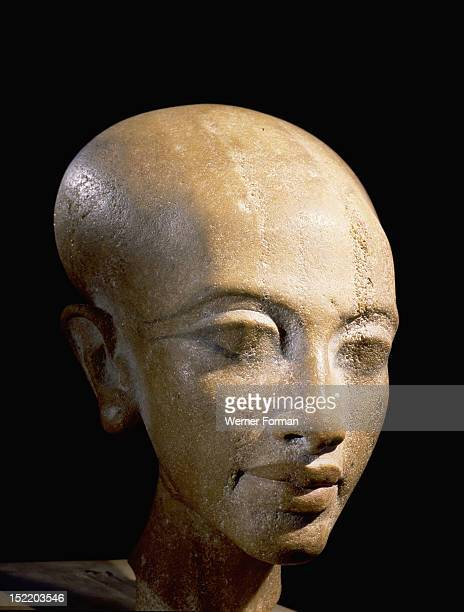 A head of a daughter of Akhenaton It is thought to represent a princess daughter of Akhenaten and Nefertiti Found in the workshop of the chief...