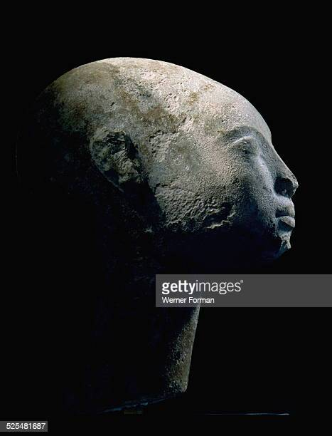 A head of a daughter of Akhenaton It is thought to represent a princess daughter of Akhenaten and Nefertiti Egypt Ancient Egyptian Amarna period...