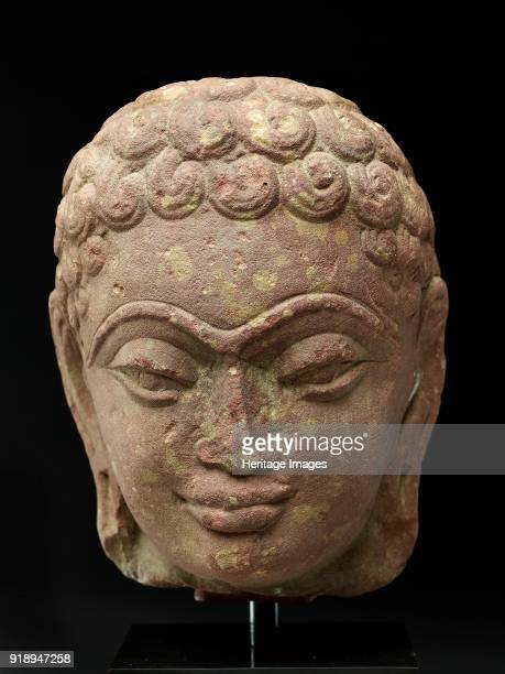 Head of a Jina late 3rd century early 4th century Dimensions height x width x depth 17 x 15 x 12 cm max