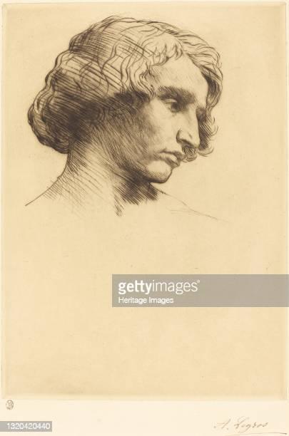 Head of a Man , 1877. Artist Alphonse Legros.