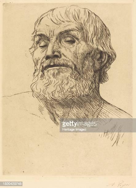 Head of a Man . Artist Alphonse Legros.