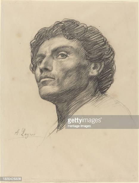 Head of a Man. Artist Alphonse Legros.