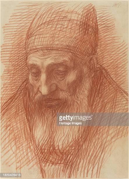 Head of a Priest. Artist Alphonse Legros.
