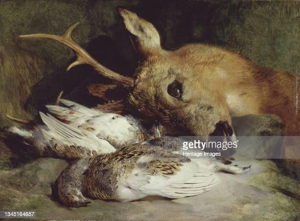 Head of a Roebuck and Two Ptarmigan, circa 1830. Artist Edwin Henry Landseer.