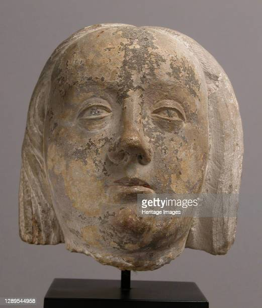 Head of a Woman, French, ca. 1500. Artist Unknown.