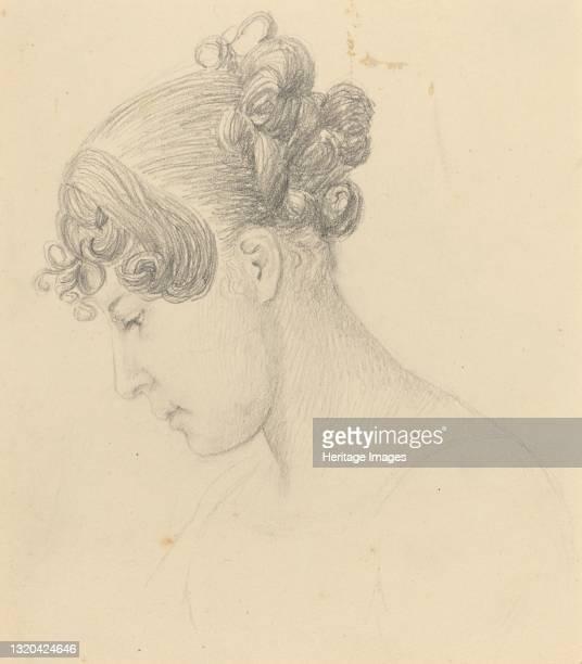 Head of a Woman Looking Down . Artist John Flaxman.