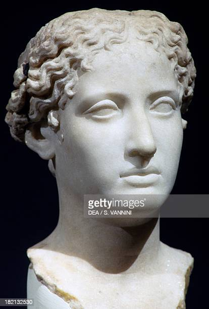 Head of a woman perhaps Cleopatra VII marble sculpture Egyptian Civilisation Ptolemaic Period 1st century BC Cairo Egyptian Museum