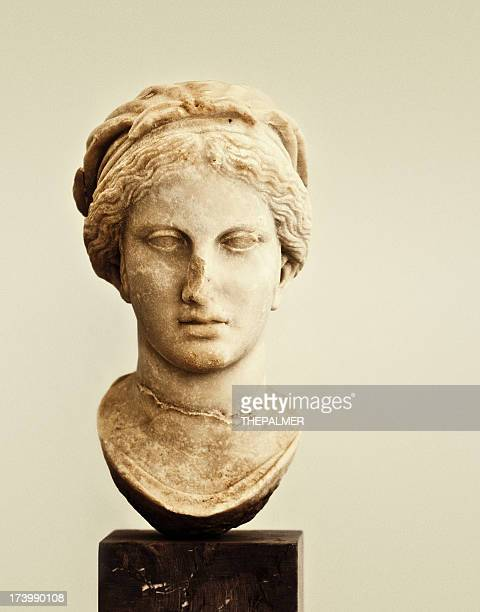 head of a young lady - classical greek style stock pictures, royalty-free photos & images