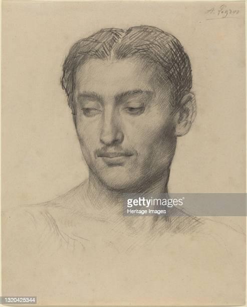 Head of a Young Man. Artist Alphonse Legros.