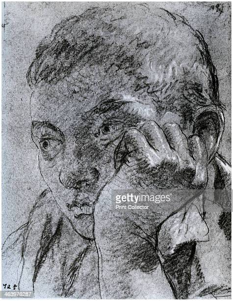 'Head of a Youth' c17501753 Red and white chalk on greyblue paper A print from The Fitzwilliam Museum an Illustrated Survey Trianon Press 1958
