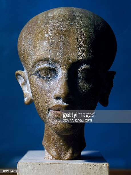 Head of Akhenaten's daughter quartzite Egyptian Civilisation New Kingdom Dynasty XVIII Cairo Egyptian Museum