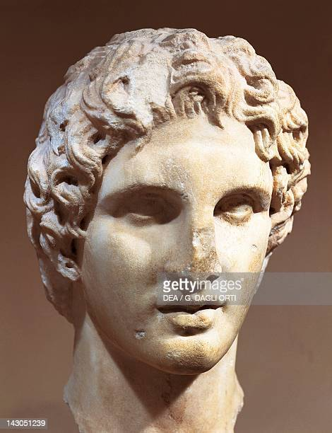 Head of Alexander the Great 330 BC Leocata Greece Greek civilization 4th Century BC Athens Moussío
