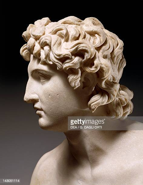 Head of Alexander the Great known as Alexander Rondanini Roman copy from the 1st century from a Greek original Greek civilization 4th Century BC...