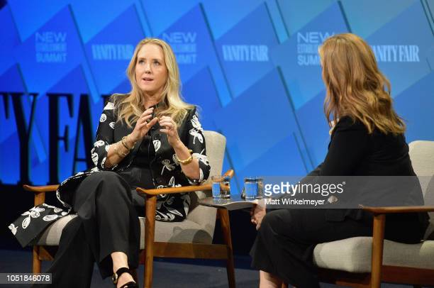 Head of Amazon Studios Jennifer Salke and Executive West Coast Editor at Vanity Fair Krista Smith speak onstage at Day 2 of the Vanity Fair New...