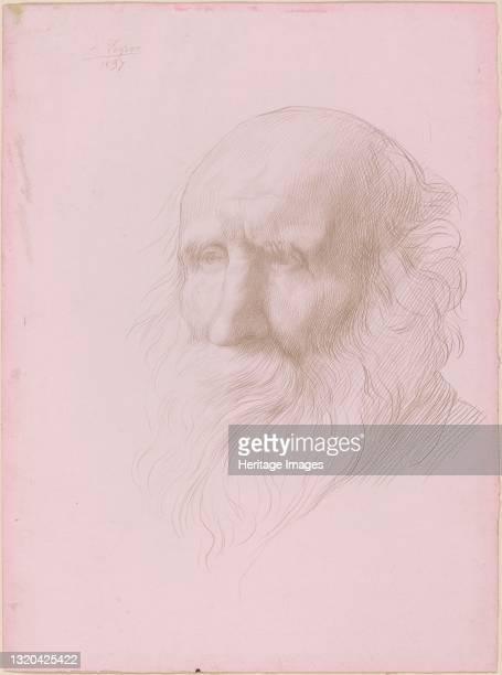 Head of an Old Man, 1897. Artist Alphonse Legros.